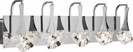 Elan 83777 Rockne Chrome LED 5-Light Bath Sconce