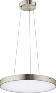 Elan 83789 Crystal Moon Contemporary Brushed Nickel LED 24  Pendant Lighting Fixture