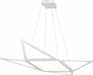 Elan 83961 Starship Contemporary Matt White LED Pendant Lamp