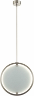 Elan 83975 Core Contemporary Brushed Nickel LED Hanging Light Fixture