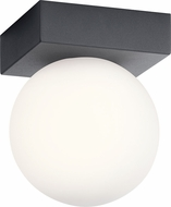 Elan 83979-83982 Mates Modern Charcoal LED Flush Mount Lighting Fixture