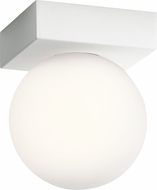 Elan 83980-83982 Mates Modern Textured White LED Flush Mount Ceiling Light Fixture