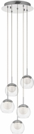 Elan 84008 Lexi Contemporary Chrome LED Multi Hanging Light