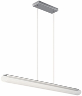 Elan 84026 Loop Contemporary Brushed Aluminum LED 51.5  Kitchen Island Lighting