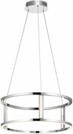 Elan 84036 Mira Contemporary Chrome LED Drop Ceiling Light Fixture