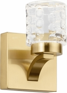 Elan 84039CG Rene Contemporary Champagne Gold LED Wall Sconce Lighting