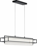 Elan 84051 Vega Modern Matte Black LED Island Light Fixture