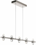 Elan 84067 Arabella Polished Nickel LED Kitchen Island Light Fixture