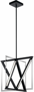 Elan 84082 Axis Modern Matte Black LED 20  Foyer Lighting Fixture