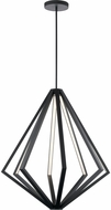 Elan 84087 Everest Contemporary Matte Black LED 32  Pendant Lamp