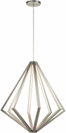 Elan 84089 Everest Contemporary Satin Nickel LED 32  Hanging Light