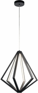 Elan 84090 Everest Contemporary Matte Black LED 24.5  Pendant Light Fixture