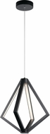 Elan 84091 Everest Contemporary Matte Black LED 18  Pendant Lighting Fixture