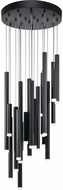 Elan 84116 Soho Contemporary Black LED Multi Drop Lighting Fixture