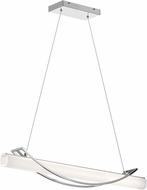 Elan 84125 Rowan Contemporary Chrome LED Island Lighting