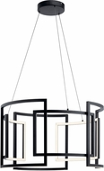 Elan 84134 Melko Contemporary Black LED 32  Pendant Light Fixture