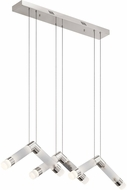 Elan 84137 Avedu Modern Polished Nickel LED Multi Pendant Lighting Fixture