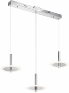 Elan 84139 Korfu Modern Chrome LED Multi Hanging Pendant Light