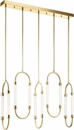 Elan 84146 Delsey Contemporary Champagne Gold LED Multi Ceiling Light Pendant