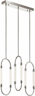 Elan 84149 Delsey Contemporary Polished Nickel LED Multi Drop Ceiling Light Fixture