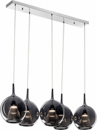 Elan 84154 Zin Contemporary Chrome LED Multi Pendant Light