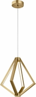 Elan 84198 Everest Contemporary Champagne Gold LED 18  Pendant Lighting Fixture
