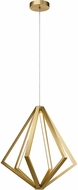 Elan 84199 Everest Modern Champagne Gold LED 24.5  Hanging Pendant Lighting