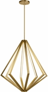 Elan 84200 Everest Modern Champagne Gold LED 32  Hanging Pendant Light