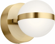 Elan 85090CG Brettin Contemporary Champagne Gold LED Lighting Sconce