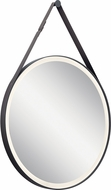 Elan 86000MBK Martell Contemporary Matte Black LED Wall Mirror