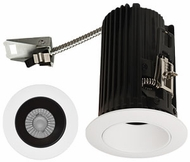 Elco E2L10FXXB Teak System Contemporary Black / White LED 2 Inch Recessed Lighting Round Reflector