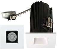 Elco E2L13FXXB Teak System Modern Black / White LED 2 Inch Recessed Lighting Square Reflector
