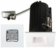 Elco E2L13FXXC Teak System Modern Chrome / White LED 2 Inch Recessed Lighting Square Reflector
