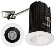 Elco E2L14FXXB Teak System Contemporary Black / White LED 2 Inch Recessed Lighting Round Baffle