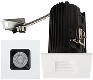 Elco E2L15FXXB Teak System Modern Black / White LED 2 Inch Recessed Lighting Square Baffle