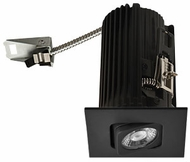 Elco E2L19FXXB Teak System Modern Black LED 2 Inch Recessed Lighting Square Adjustable