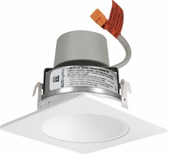 Elco E424R08 Cedar System Contemporary LED 4 inch Recessed Lighting Module & Driver with Square Baffle Trim