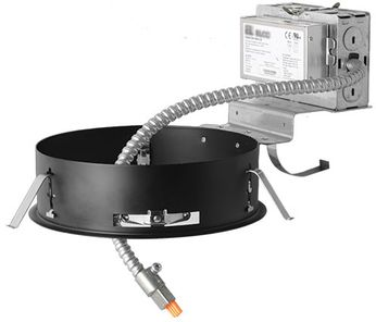 Elco E8LRU40 Laurel System Commercial Contemporary 8 Remodel Recessed Lighting Frame with Driver - 4000 Lumens