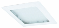Elco EL10W Contemporary White Medium Base 8  Recessed Light Pismatic Lens Square Trim
