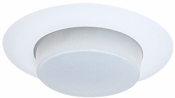 Elco EL116W Contemporary White Medium Base 6 Recessed Lighting IC Shower Light and Lensed with Reflector Trim