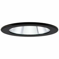 Elco EL1411B Modern Black 4  Adjustable Shower Recessed Lighting Trims With Clear Lens