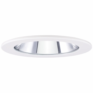 Elco EL1411W Modern White 4  Adjustable Shower Recessed Lighting Trims With Clear Lens