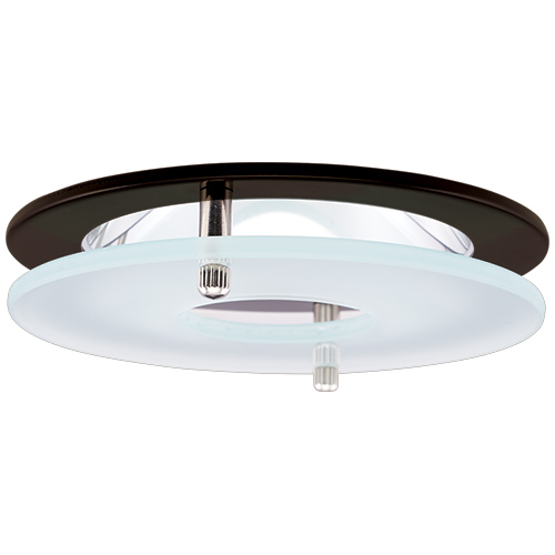 Elco El1426bz Contemporary Bronze 4 Reflector Recessed Lighting Trim With Suspended Frosted Gl