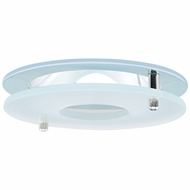 Elco EL1426C Contemporary Chrome 4 Reflector Recessed Lighting Trim With Suspended Frosted Glass