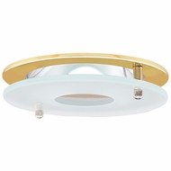 Elco EL1426G Modern Gold 4 Reflector Recessed Lighting Trim With Suspended Frosted Glass