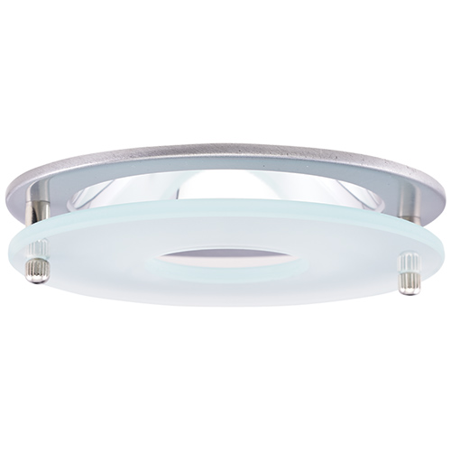 Elco El1426n Contemporary Nickel 4 Reflector Recessed Lighting Trim With Suspended Frosted Gl