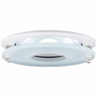 Elco EL1426W Contemporary White 4 Reflector Recessed Lighting Trim With Suspended Frosted Glass