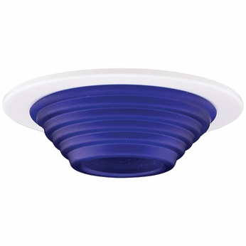 Elco EL1453BL Modern Blue 4 Frosted Step Glass Recessed Lighting Trim