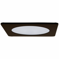 Elco EL2412BZ Contemporary Bronze / Chrome 4 Adjustable Shower Recessed Lighting Trim With Frosted Lens