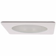 Elco EL2412W Modern White / Chrome 4 Adjustable Shower Recessed Lighting Trim With Frosted Lens